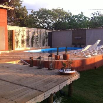 Ampla e confortável área de lazer da Pousada Pepalantus, Serra do Cipó, MG - Brasil