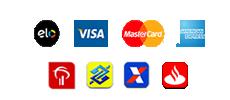 Cartões e Bancos aceitos para pagamento